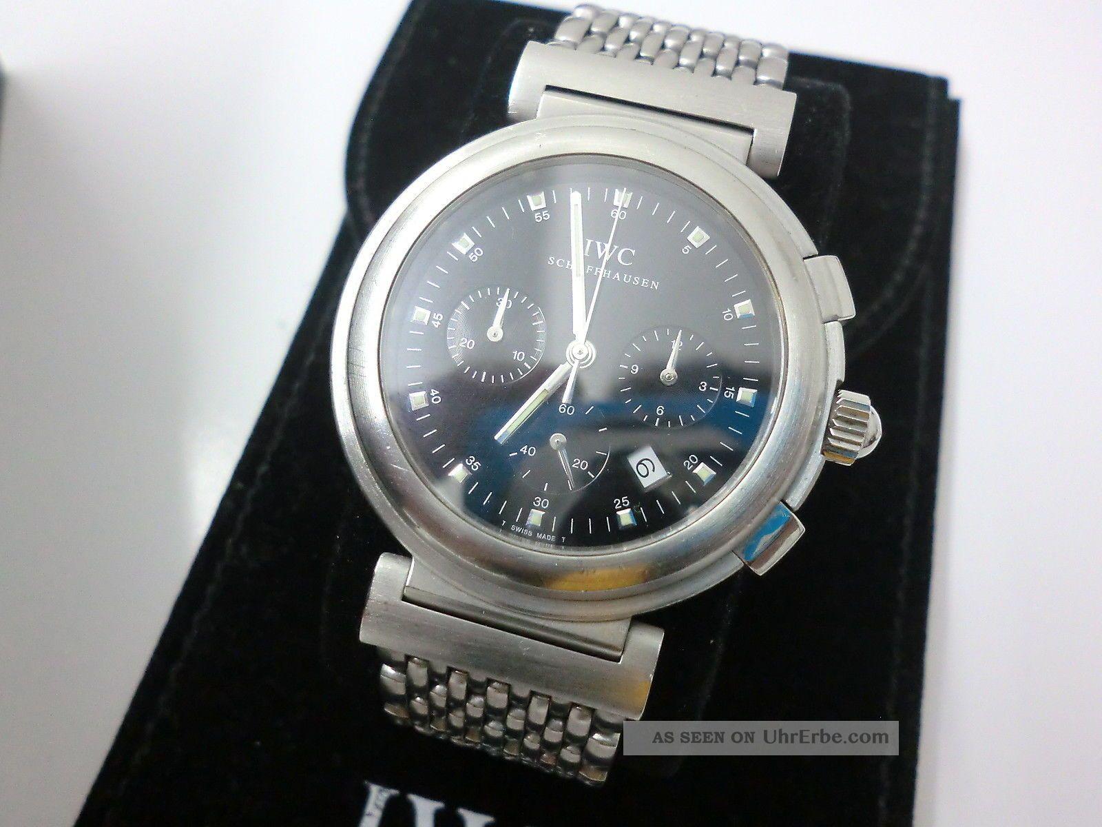 Iwc Schaffhausen Schwarze Davinci Ref.  3728 Mit Edelstahlarmband Armbanduhren Bild