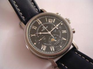 Poljot Lunar,  Mondphase,  Mechanische Uhr,  Handaufzug Hau Bild