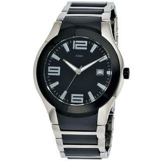 Jobo Herren Uhr Armbanduhr Uhr Keramik Edelstahl Quarz J - 39309 Bild