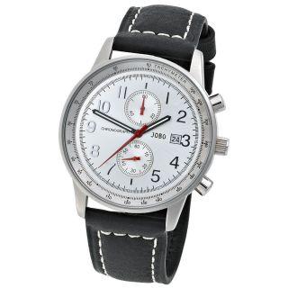 Jobo Herrenuhr Uhr Quarz Chronograph Edelstahl Herren Armbanduhr J - 37289 Bild