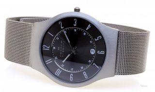 Skagen Uhr Flache Herren Titanium Uhr 233xlttm Datum 3 Bar Gents Watch 7,  5mm Bild