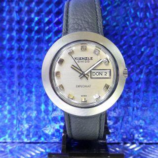 Vintage 70 èr Kienzle Swiss Diplomat Day/date Automatic Herren Armbanduhr Bild