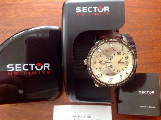 Sector 400 Dual Time Herren Armbanduhr R3251119007 Braun Echtes Leder - Armband Bild