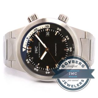 Iwc Aquatimer Automatic - Uhr - Edelstahl Schwarz Weiß Dial Iw 3548 - 05 Bild