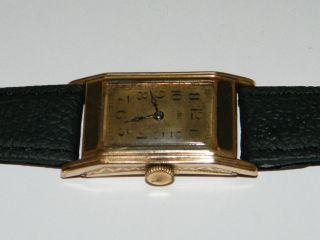Glashütte Art Deco Formwerk,  40er Rare,  Hau,  Handaufzug,  Wrist Watch,  Vergoldet Bild
