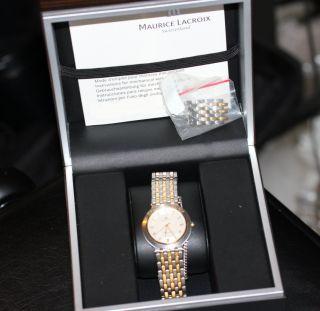 Seltene Maurice Lacroix Uhr Stahl/gold Bild