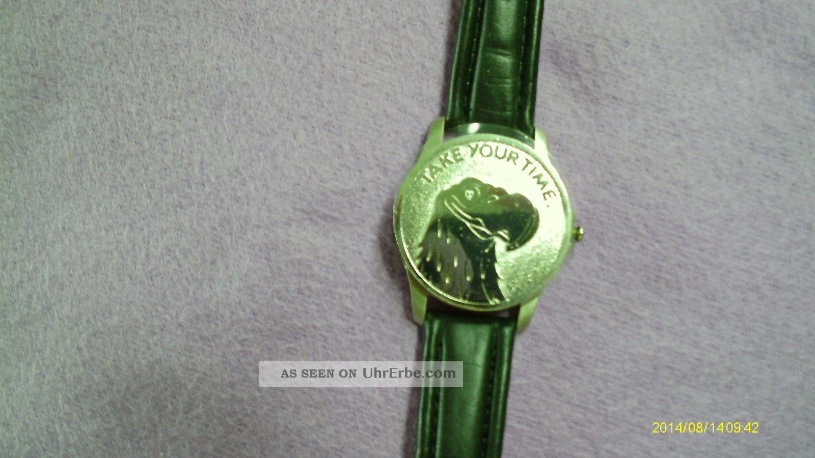 Herren Armbanduhr Mit Deckel Armband Schwarz Echt Leder Stainless Steel Case Bac Armbanduhren Bild