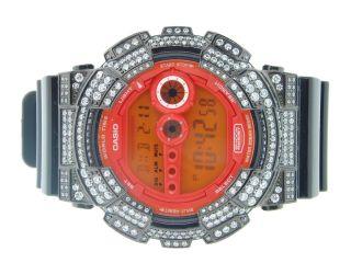 Armbanduhr Herren G - Shock Weiße Künstliche Diamanten Organges Ziffernblatt Bild