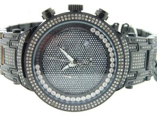 Mens Joe Rodeo Master Black Ion - Finish Diamond Watch Jojino Jojo 4,  75 Ct Jjms24 Bild