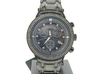 Herren Armbanduhr Joe Rodeo Master Schwarz Perlmutt Diamant Jojino 4.  75 Ct Jjm83 Bild