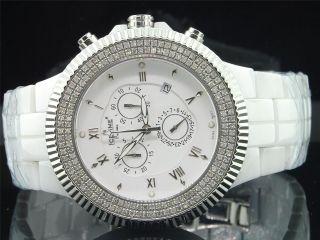 Herren Nagelneu Icetime Joe Rodeo Jojo Weißkeramik 1,  50ct.  Diamant Uhr 45mm Bild