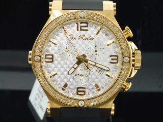 Herren Armbanduhr Joe Rodeo Phantom 2 Reihen Diamant Lünette Jojino Jojo 2.  25kt Bild