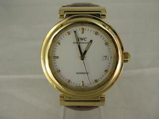 Iwc Da Vinci Automatik Uhr 37mm In 750/ - Gelbgold Bild