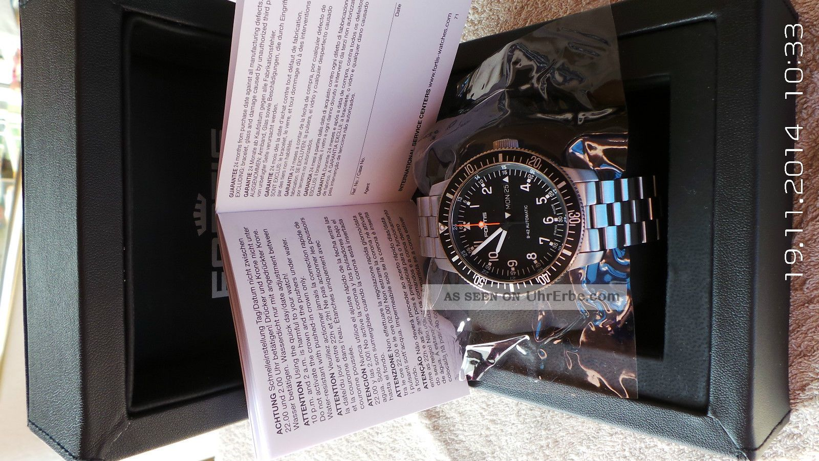Fortis B42 Automatik Ungetragen Armbanduhren Bild