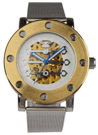 "Minoir Automatikuhr ""tavers"" Damen Herren Armband Uhr Edelstahl Uhren Bild"
