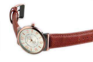 Excellanc Herrenuhr Analog Armbanduhr Braun Silber Bild