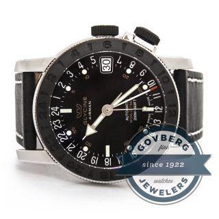 Glycine Airman 17 - Automatische Stahl Armbanduhr Mit Schwarzem Ziffernblatt Bild
