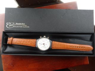 Mercedes - Benz Herren Chronograph 45mm Lederarmband Mit Box Papiere Bild