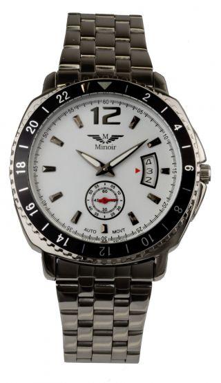 Minoir Herren Automatikuhr Armband Uhr Gouzon Automatic Watch Uhren Edelstahl Bild