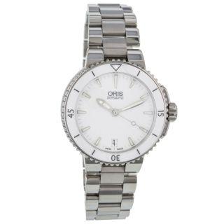 Männer Automatik Uhr Oris Aquis Date 0173376524156 - 0781801p Mb Edelstahl Uhr Bild