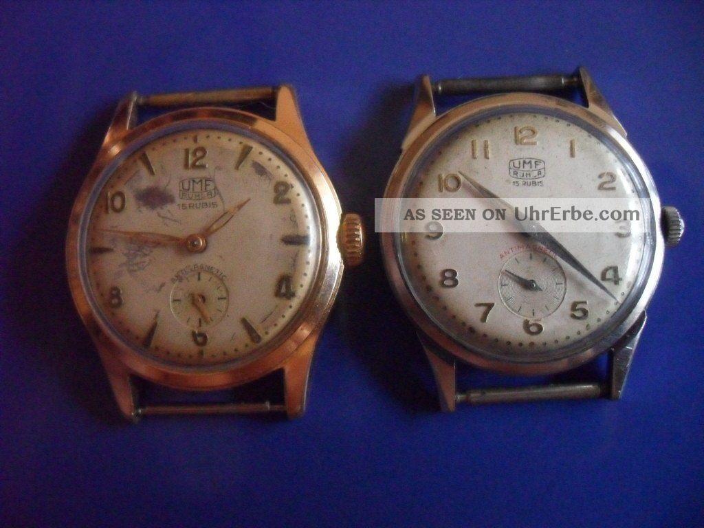 Ruhla Uhr - Läuft - 2 Mal Armbanduhren Bild