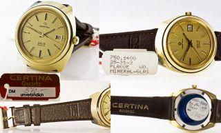 Nos Certina Ds - 3,  Kaliber 750/eta - Esa 9361,  Swiss Ca.  1980 Bild