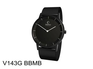 Obaku Harmony Armbanduhr V143gbbmb Milanaiseband Schwarz Dänisches Design Bild