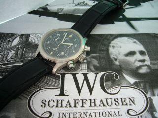 Iwc Fliegerchronograph Edelstahl Herrenuhr Ref.  3741 Bild