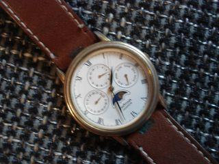 PrÄtina Goldener Herren Chronograph Mit Mondphase (sammler ?) Bild