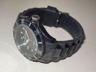 Sportliche Silikon Quarz Armbanduhr Herrenuhr Uhr Chronograph - Schwarz In Ovp Bild