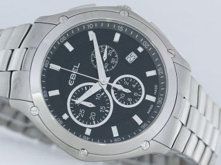 Ebel Classic Sport Chronograph Stahl/stahl Uvp 2200€ Uhr Bild