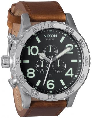 Nixon 51 - 30 Chrono Leather Herren Uhr A124 1037 Bild