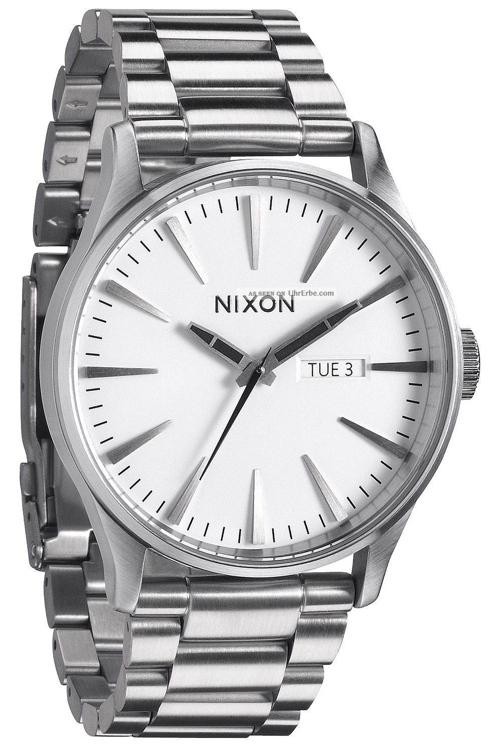 nixon sentry ss white herren uhr a356 100. Black Bedroom Furniture Sets. Home Design Ideas