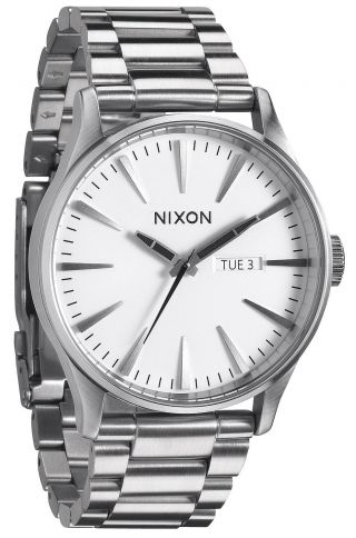 Nixon Sentry Ss White Herren Uhr A356 100 Bild