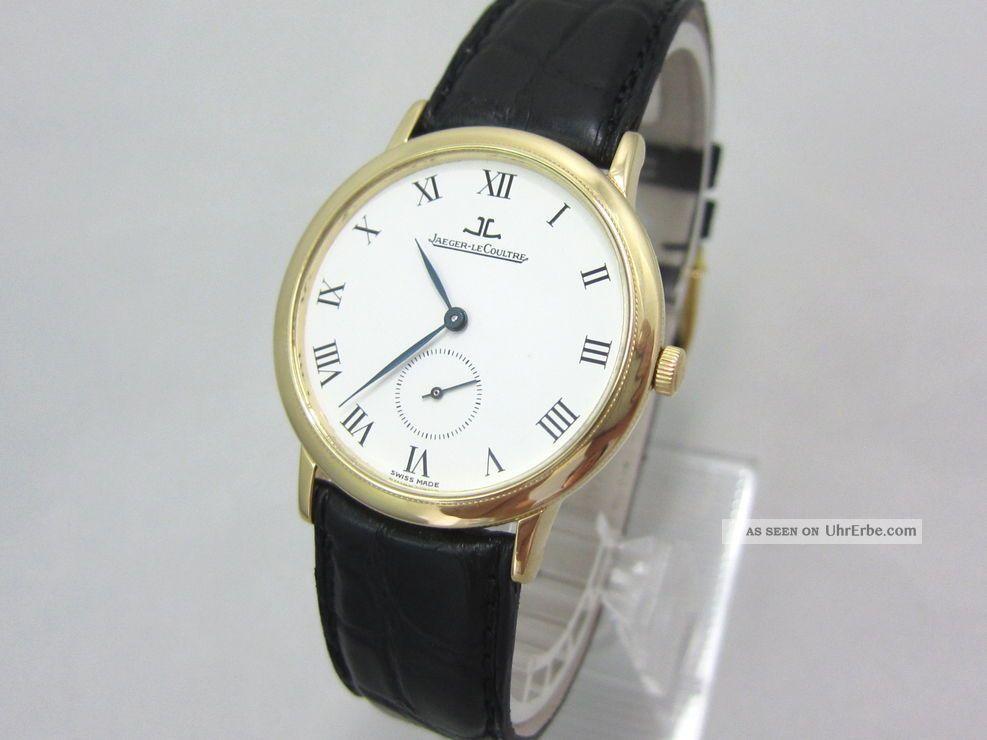 Jaeger - Lecoultre Gentilhomme 18k/750 Gold Ref:152.  1.  81 RaritÄt Armbanduhren Bild