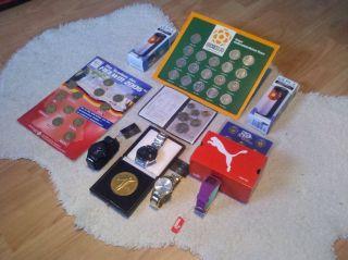 Uhren - MÜnzen - Taschenlampen Paket Bild