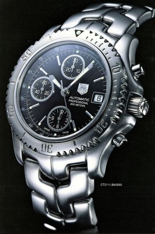 Tag Heuer Link 200 M Automatic Chronograph Professional Ref.  Ct2111 Bild