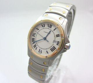 Cartier Santos Ronde Stahl /750 Gold Unisex Box U.  Papiere Bild