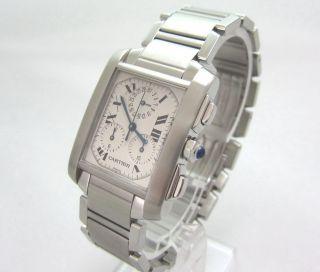 Cartier Tank Francaise Chronograph Edelstahl Revisioniert Bild