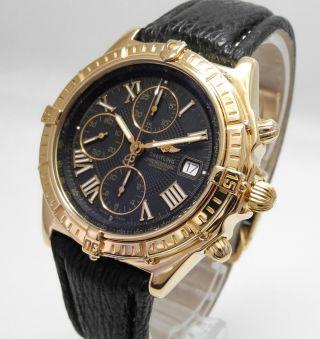 Breitling 18k/750er Gold Crosswind Faltschliesse 18k /750er Gold Papiere Bild
