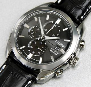 Citizen Ca0021 - 02e Eco - Drive Titan Armbanduhr Saphirglas Sehr Elegant Bild