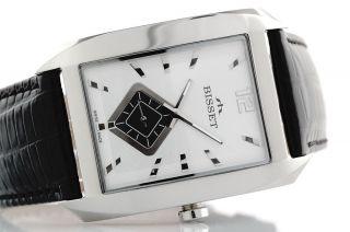 Bisset Geodream Bscd13 Elegance 5 Atm Swiss Made Herrenuhr Armbanduhr Bild