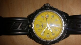 Breitling Superocean Professional 5000 Ft.  Automatic Yellow Dial Bild