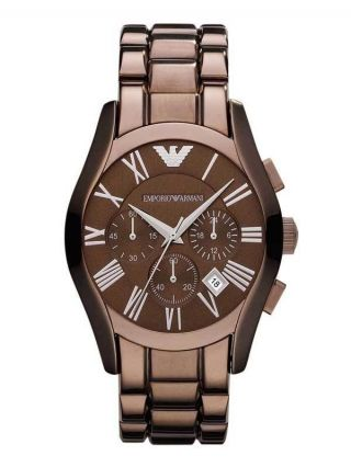 Emporio Armani Chronograph Rosa Braun Ceramic Herren Uhr Ar1610 Bild