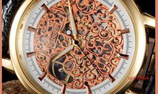 D Herrenuhr Mechanische Automatikuhr Armbanduhr Bild