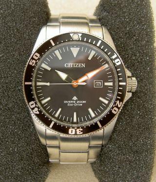 Citizen Promaster Marine Diver ' S 200 Eco - Drive Taucheruhr Stahl/stahl Bn0100 - 51e Bild