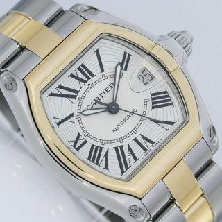 Cartier Roadster Gold/stahl Box Anleitung Uhr Ref.  2510 Bild