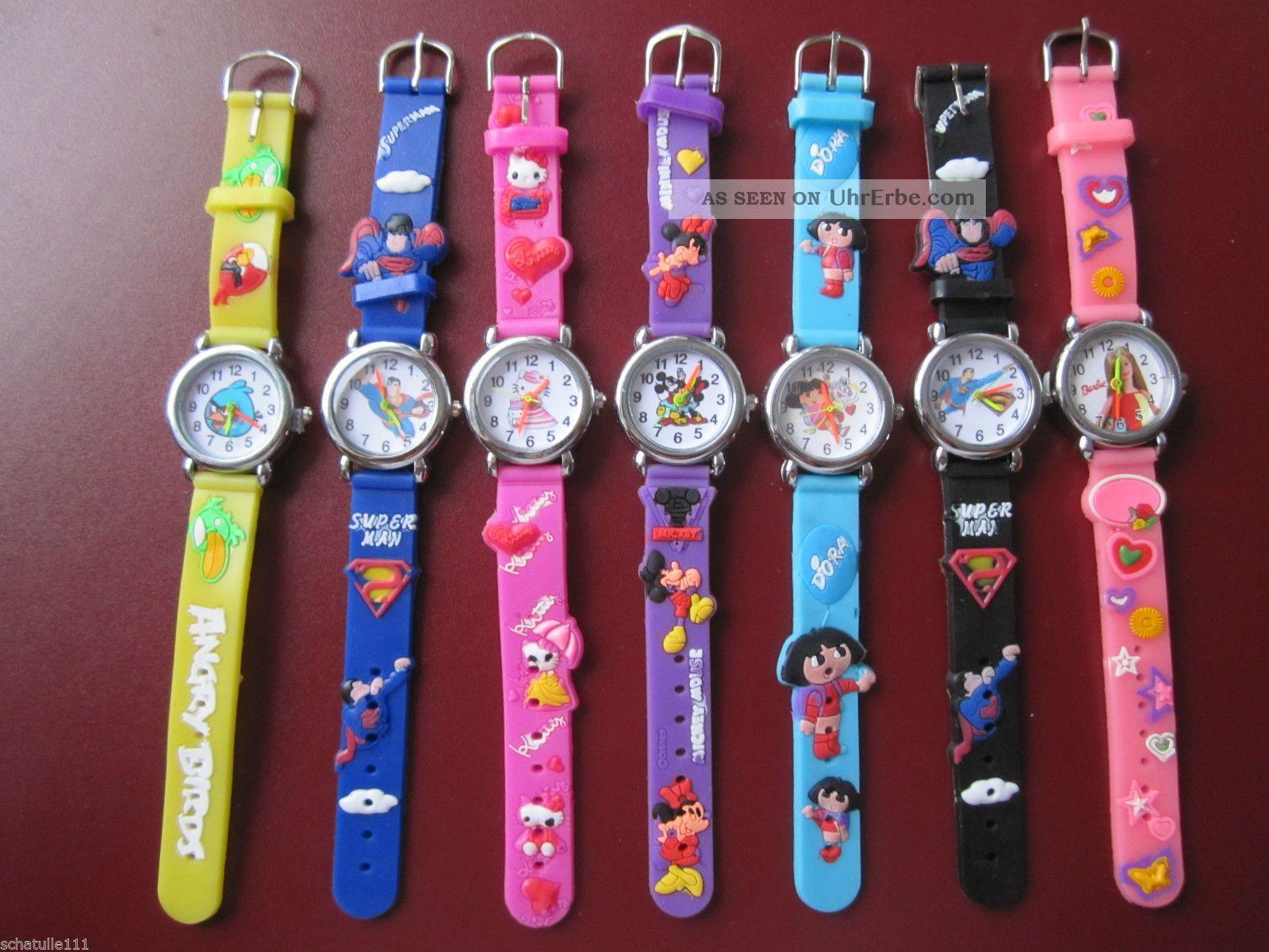 3d Kinder Uhr Silikon Mit Versch.  Motiven U.  Farbauswahl D85 Armbanduhren Bild