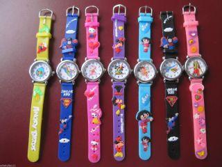 3d Kinder Uhr Silikon Mit Versch.  Motiven U.  Farbauswahl D85 Bild
