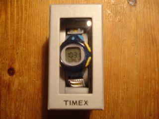 Timex Iron Kids Armbanduhr Ovp Blau - Gelb Sammlerstück T 79631 1k Batterie Bild